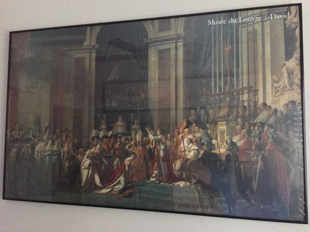 My print of Le Sacre de Napoléon.