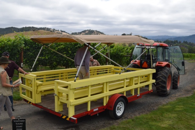 WE toured the vineyard in this contraption—my kids would have loved it.
